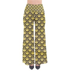 Scales2 Black Marble & Yellow Watercolor Pants