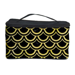 Scales2 Black Marble & Yellow Watercolor (r) Cosmetic Storage Case