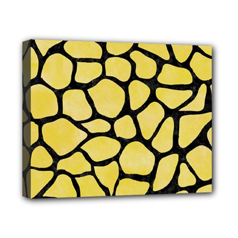 Skin1 Black Marble & Yellow Watercolor (r) Canvas 10  X 8