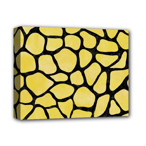 Skin1 Black Marble & Yellow Watercolor (r) Deluxe Canvas 14  X 11