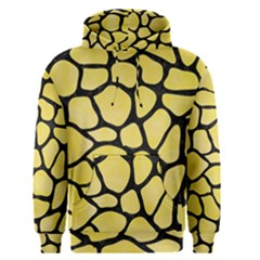 Skin1 Black Marble & Yellow Watercolor (r) Men s Pullover Hoodie
