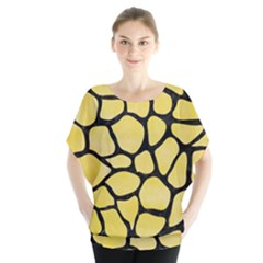 Skin1 Black Marble & Yellow Watercolor (r) Blouse