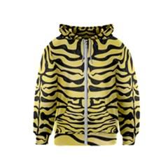 Skin2 Black Marble & Yellow Watercolor Kids  Zipper Hoodie