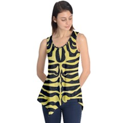 Skin2 Black Marble & Yellow Watercolor (r) Sleeveless Tunic