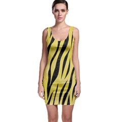 Skin3 Black Marble & Yellow Watercolor Bodycon Dress