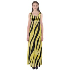 Skin3 Black Marble & Yellow Watercolor Empire Waist Maxi Dress