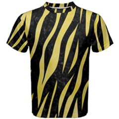 Skin3 Black Marble & Yellow Watercolor (r) Men s Cotton Tee