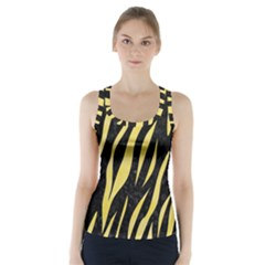 Skin3 Black Marble & Yellow Watercolor (r) Racer Back Sports Top