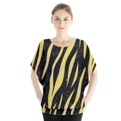 Skin3 Black Marble & Yellow Watercolor (r) Blouse