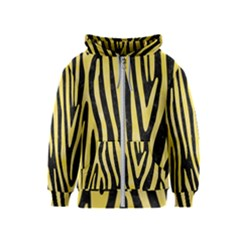 Skin4 Black Marble & Yellow Watercolor Kids  Zipper Hoodie