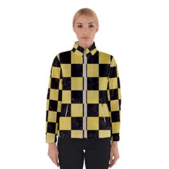 Square1 Black Marble & Yellow Watercolor Winterwear