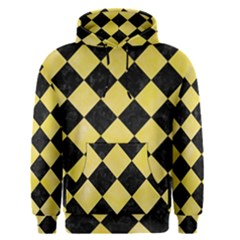 Square2 Black Marble & Yellow Watercolor Men s Pullover Hoodie
