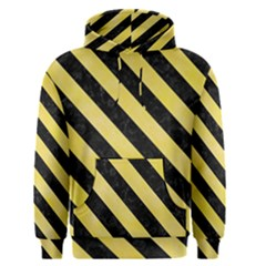 Stripes3 Black Marble & Yellow Watercolor Men s Pullover Hoodie