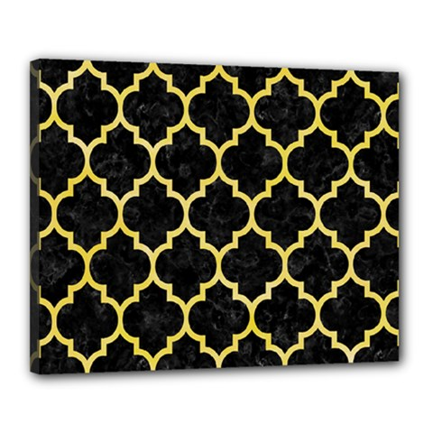 Tile1 Black Marble & Yellow Watercolor (r) Canvas 20  X 16