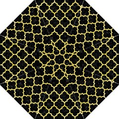 Tile1 Black Marble & Yellow Watercolor (r) Folding Umbrellas