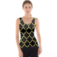Tile1 Black Marble & Yellow Watercolor (r) Tank Top