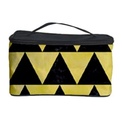 Triangle2 Black Marble & Yellow Watercolor Cosmetic Storage Case