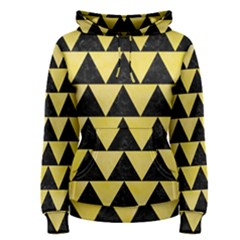 Triangle2 Black Marble & Yellow Watercolor Women s Pullover Hoodie