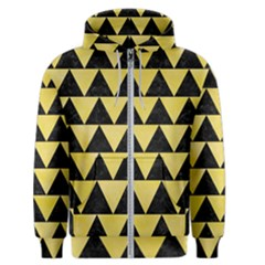Triangle2 Black Marble & Yellow Watercolor Men s Zipper Hoodie