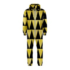 Triangle2 Black Marble & Yellow Watercolor Hooded Jumpsuit (kids)