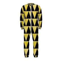 Triangle2 Black Marble & Yellow Watercolor Onepiece Jumpsuit (kids)