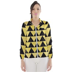 Triangle2 Black Marble & Yellow Watercolor Wind Breaker (women)