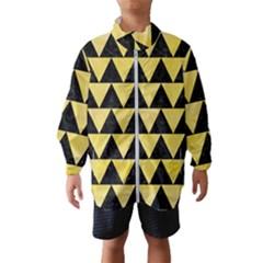 Triangle2 Black Marble & Yellow Watercolor Wind Breaker (kids)