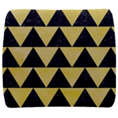 Triangle2 Black Marble & Yellow Watercolor Back Support Cushion