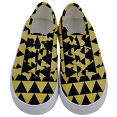 Triangle2 Black Marble & Yellow Watercolor Kids  Classic Low Top Sneakers