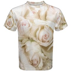 Pastel Roses Antique Vintage Men s Cotton Tee