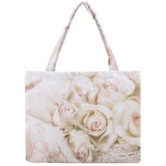 Pastel Roses Antique Vintage Mini Tote Bag