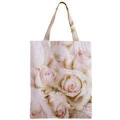 Pastel Roses Antique Vintage Zipper Classic Tote Bag