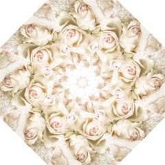 Pastel Roses Antique Vintage Straight Umbrellas