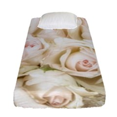 Pastel Roses Antique Vintage Fitted Sheet (single Size)