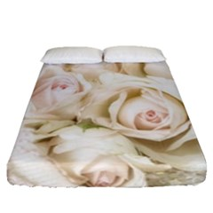 Pastel Roses Antique Vintage Fitted Sheet (queen Size)