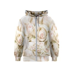 Pastel Roses Antique Vintage Kids  Zipper Hoodie