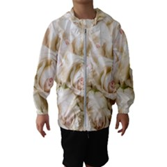 Pastel Roses Antique Vintage Hooded Wind Breaker (kids)