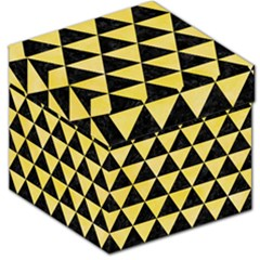 Triangle3 Black Marble & Yellow Watercolor Storage Stool 12