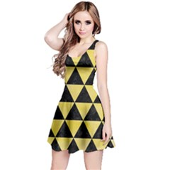 Triangle3 Black Marble & Yellow Watercolor Reversible Sleeveless Dress