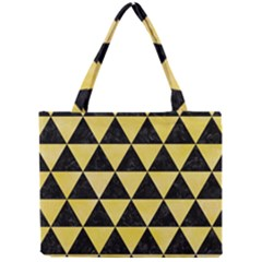 Triangle3 Black Marble & Yellow Watercolor Mini Tote Bag