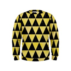 Triangle3 Black Marble & Yellow Watercolor Kids  Sweatshirt