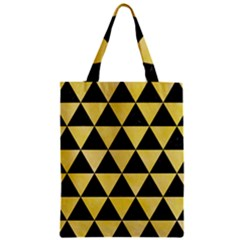 Triangle3 Black Marble & Yellow Watercolor Zipper Classic Tote Bag