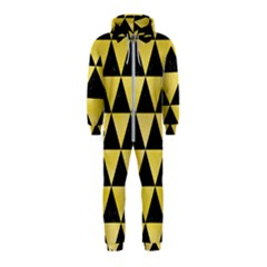 Triangle3 Black Marble & Yellow Watercolor Hooded Jumpsuit (kids)