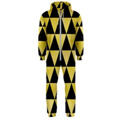Triangle3 Black Marble & Yellow Watercolor Hooded Jumpsuit (men)