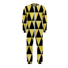 Triangle3 Black Marble & Yellow Watercolor Onepiece Jumpsuit (kids)