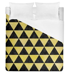 Triangle3 Black Marble & Yellow Watercolor Duvet Cover (queen Size)