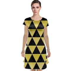 Triangle3 Black Marble & Yellow Watercolor Cap Sleeve Nightdress