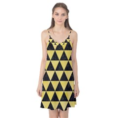 Triangle3 Black Marble & Yellow Watercolor Camis Nightgown