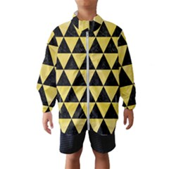 Triangle3 Black Marble & Yellow Watercolor Wind Breaker (kids)