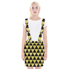Triangle3 Black Marble & Yellow Watercolor Braces Suspender Skirt